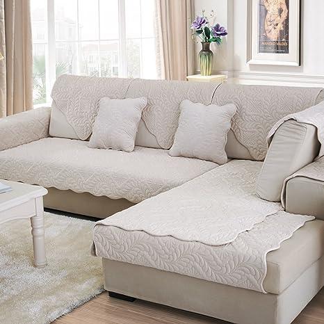 WJX&Likerr Funda de sofá,Sofá de Tela de algodón Cubierta ...