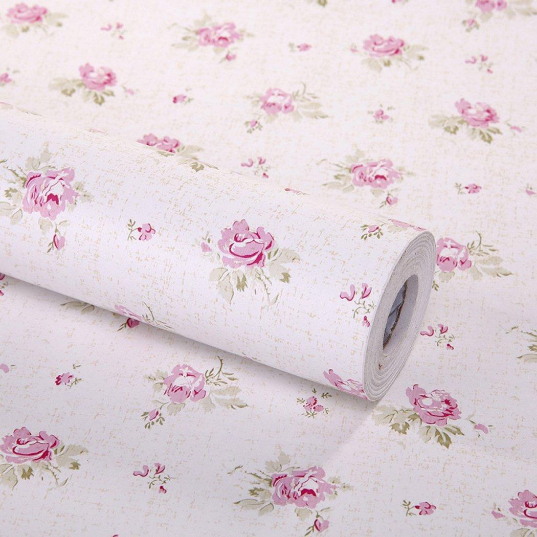 décoratif Floral Contact papier autocollant tiroir étagère Doublure amovible Peel et bâton papier peint pour étagères tiroir meubles Décoration murale 45x 199,9cm