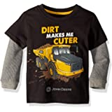 John Deere Boys 2 for Tee Thermal Sleeve Long Sleeve T-Shirt