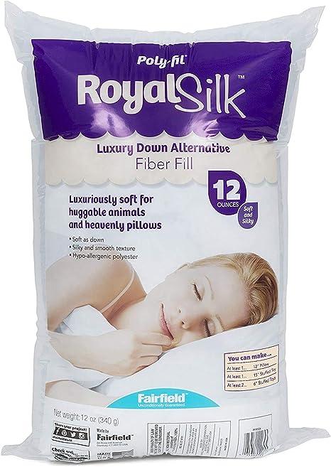 12 oz White,Royal Silk Fiber Fill Bag