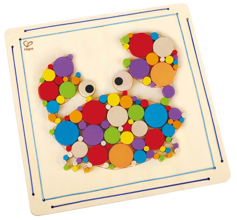 Hape - E5114 - Kit De Loisirs Créatifs - Crée Une Mosaïque - L'oursin HAP-E5114