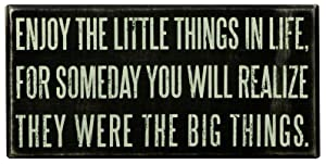 Primitives by Kathy Classic Box Sign, 8 x 4-Inches, Enjoy The Little Things