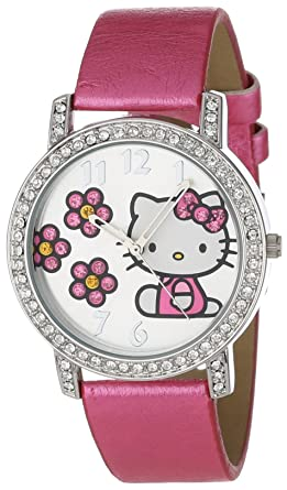 31ecd1f09 Image Unavailable. Image not available for. Color: Sanrio Hello Kitty  Women's HK1492 Watch With Pink Strap