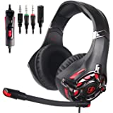 Xbox Headset, Stereo Gaming Headset with Mic for PS4, PS5, Xbox One, PC, Mobile, Switch, 3.5mm Jack Noise Cancelling Gamer He