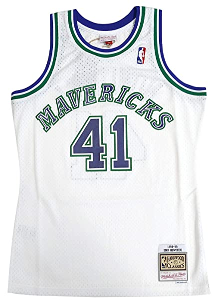super popular 1e23c 1e4f8 Mitchell & Ness Dallas Mavericks Dirk Nowitzki Swingman Jersey NBA  Throwback White