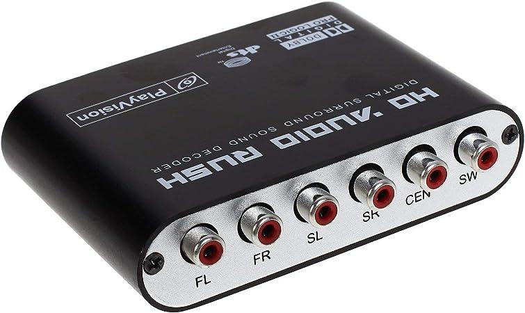 SOUTHSKY Convertidor de Sonido Digital 5.1: Dolby AC3 DTS óptico ...