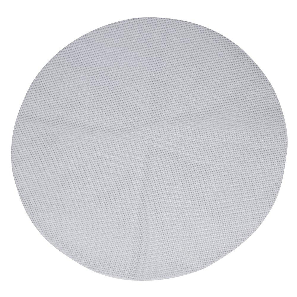 Zyurong Lot de 2tapis ronds antiadhésifs en maille silicone Pour cuisson vapeur de petits pains pâtisserie, Silicone, blanc, Diameter: 18cm