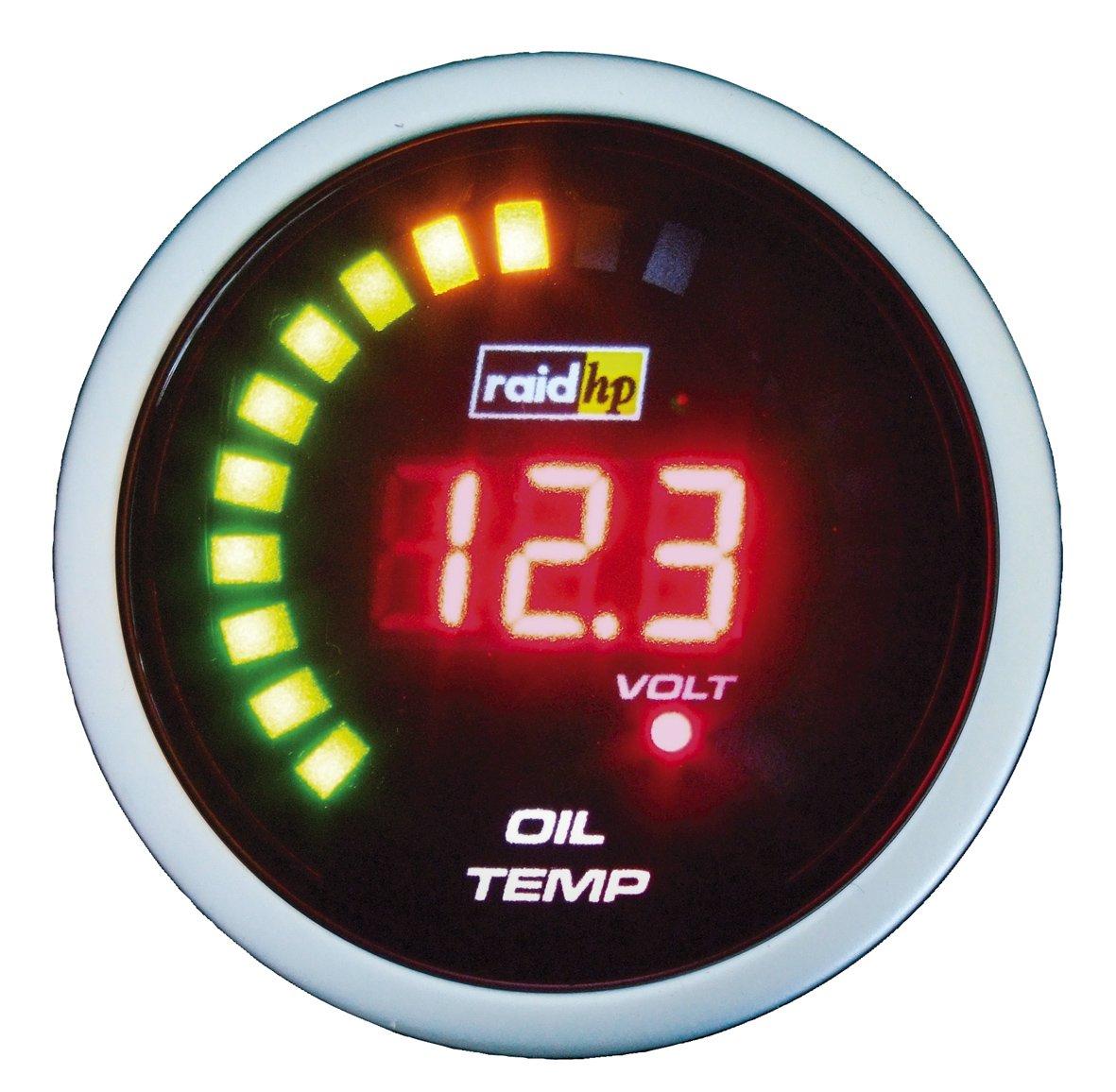 Raid hp 660535 Night Flight Digital - Indicador digital de temperatura de aceite, color rojo