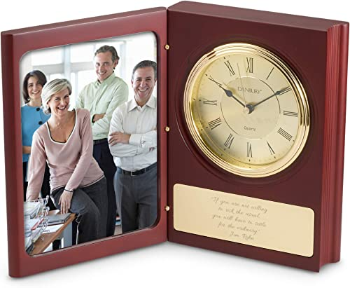 Things Remembered Personalized Large Book Clock with Engraving Included