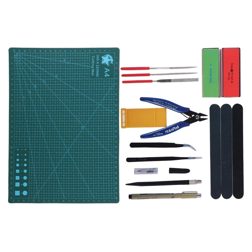 MagiDeal Kit Pinze per Utensili per Fabbricazione Modellatore Gundam Attrezzi per Costruzione Modelli