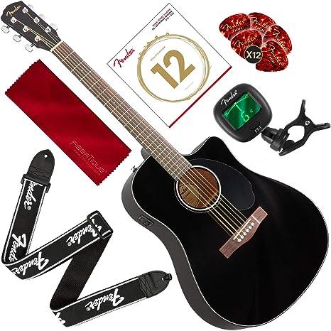 Fender CD-60SCE guitarra acústica-eléctrica, estilo de cuerpo ...
