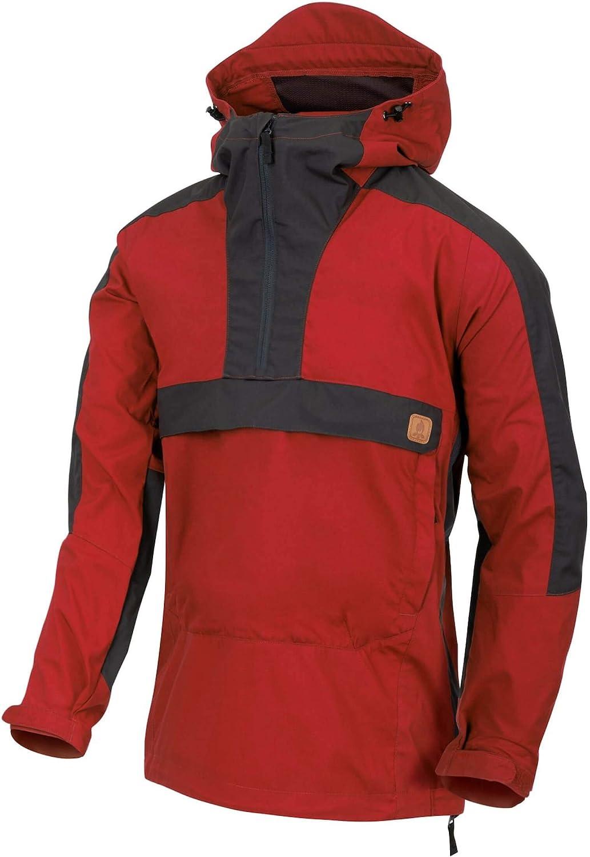 Manufacturer regenerated product Helikon-Tex Men's Woodsman Anorak Jacket Ash Sky New York Mall Gray Crimson