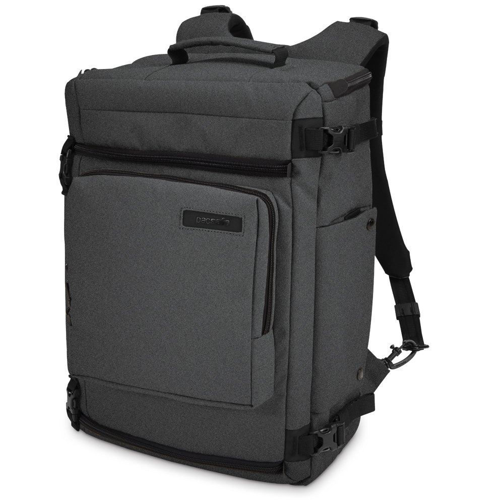 Pacsafe Camsafe Z25 Anti-Theft Camera and 15-Inch Laptop Backpack, Charcoal