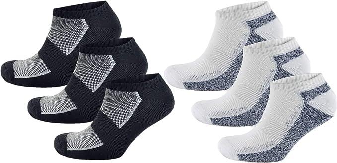 Thingimijigs Pack de 6 calcetines deportivos ricos en algodón para ...