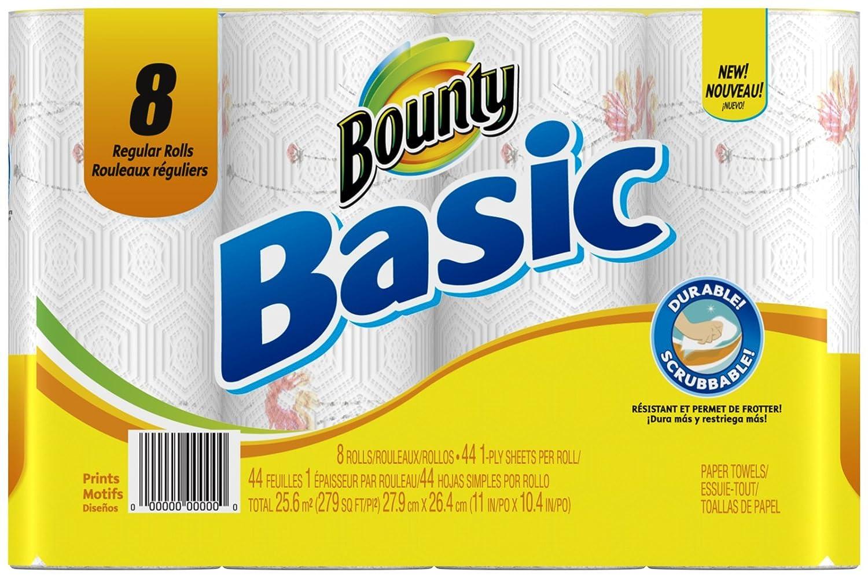 Amazon.com: Procter & Gamble 84669 Print 8-Roll/44-Sheet Paper Towels Towels, Paper: Home & Kitchen