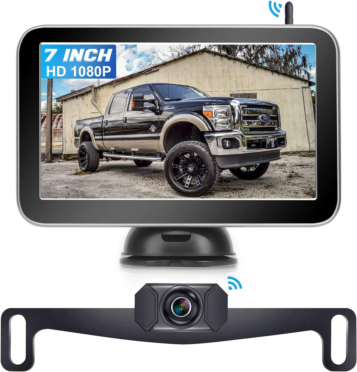 Amtifo 7-Inch Digital Wireless Backup Camera