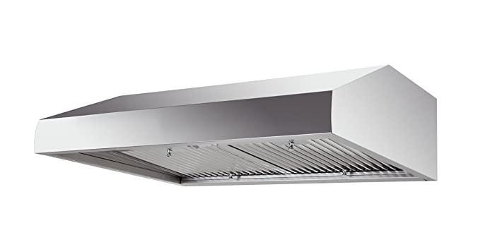 West Wind 36u0026quot; Slim Pro Style Under  Cabinet Range Hood In Stainless  Steel