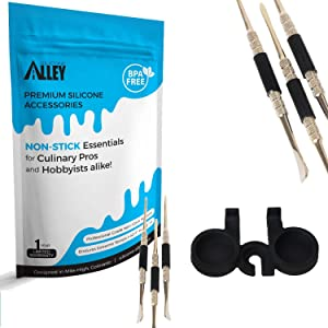 """Stainless Steel Carving Tools (3) + 1 Container Holder (Sold Separately - Search""""Nonstick Jars Silicone Alley"""")"""