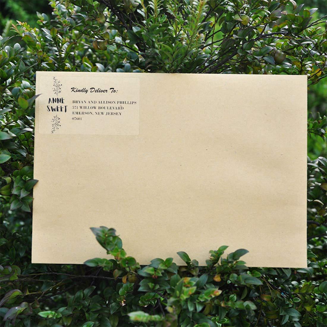 38,1 x 21,2 mm 1625 etichette per stampante a getto dinchiostro e laser impermeabili e resistenti allo strappo MR-Label Etichette per indirizzi di ritorno trasparenti per buste Barattoli