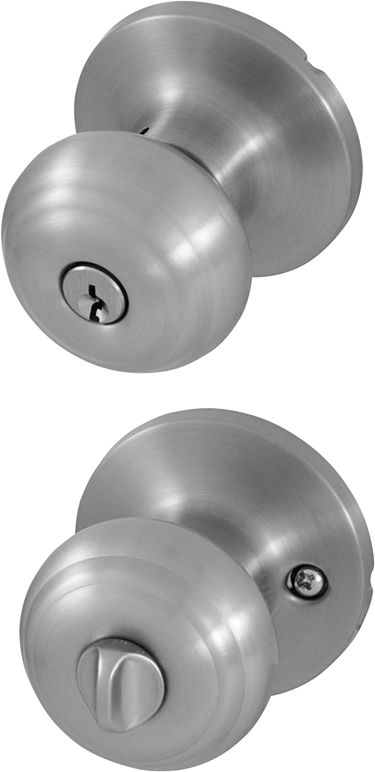 Honeywell 8101301 Classic Entry Door Knob, Satin Nickel