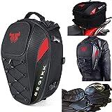 Capacete de assento para moto – Mochila de motocicleta impermeável 38L, bolsas de bagagem à prova d'água, bolsas de bagagem,