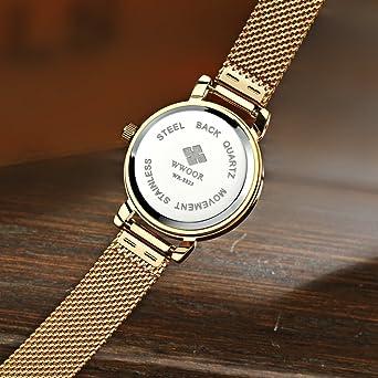 Amazon.com: Reloj De Dama Para Mujer Ultra Thin Quartz Watch Mesh Belt Stainless Steel Band: Watches
