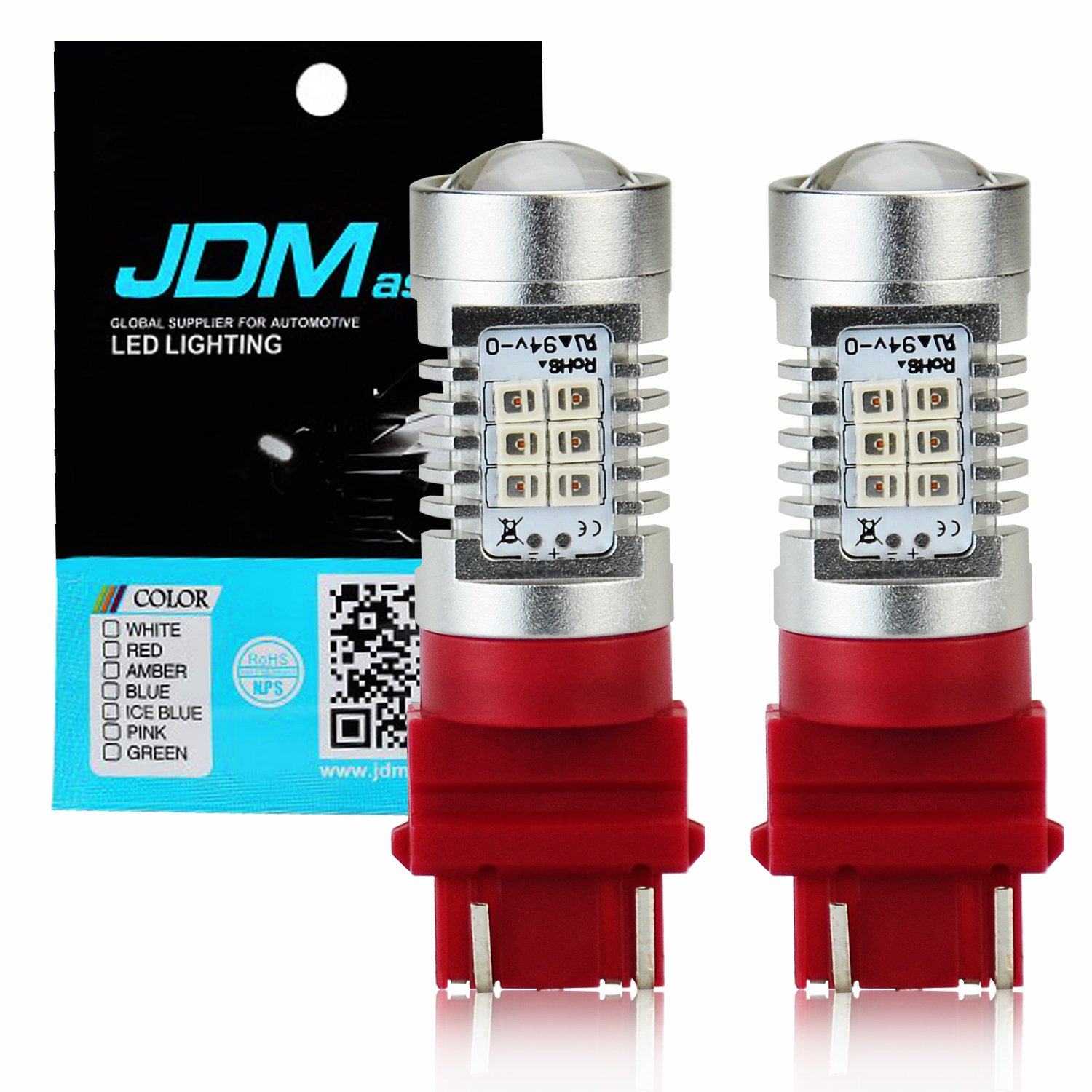 JDM ASTAR 800 lumens Extremely Bright Error Free 921 912 PX Chipsets LED Bulbs For Backup Reverse Lights, Xenon White JDM ASTAR-PX921-15W
