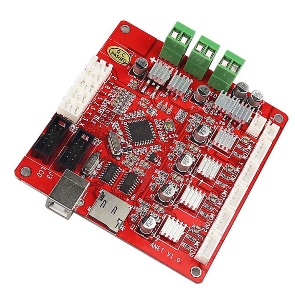 Qjoy ANET V1.0 3D Printer Motherboard 12V LCD Control Board with USB Connector for A2 A6 A8 3D Desktop Printer