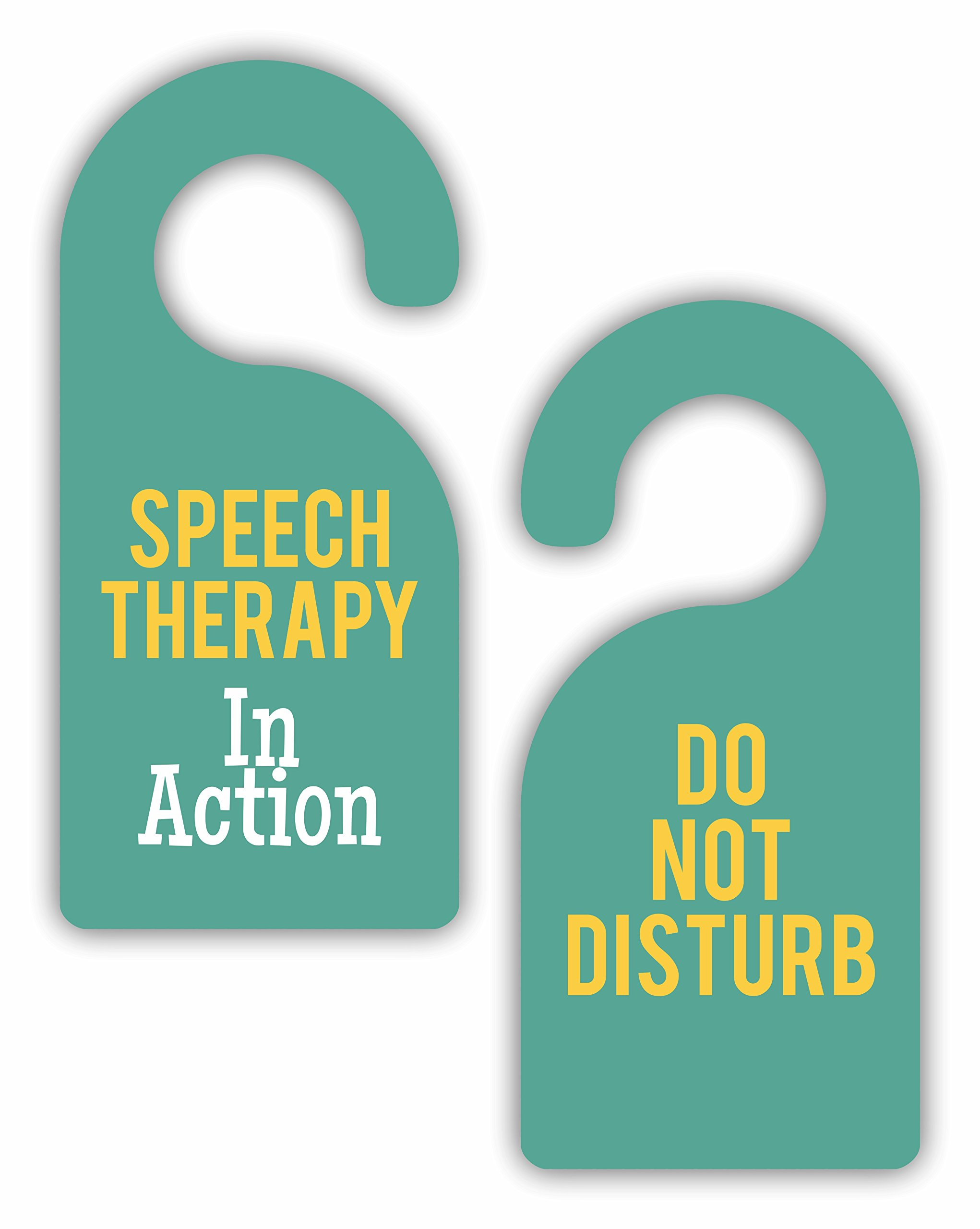 Speech Therapy in Action/Do Not Disturb - Therapist - Double-Sided Hard Plastic Glossy Door Hanger