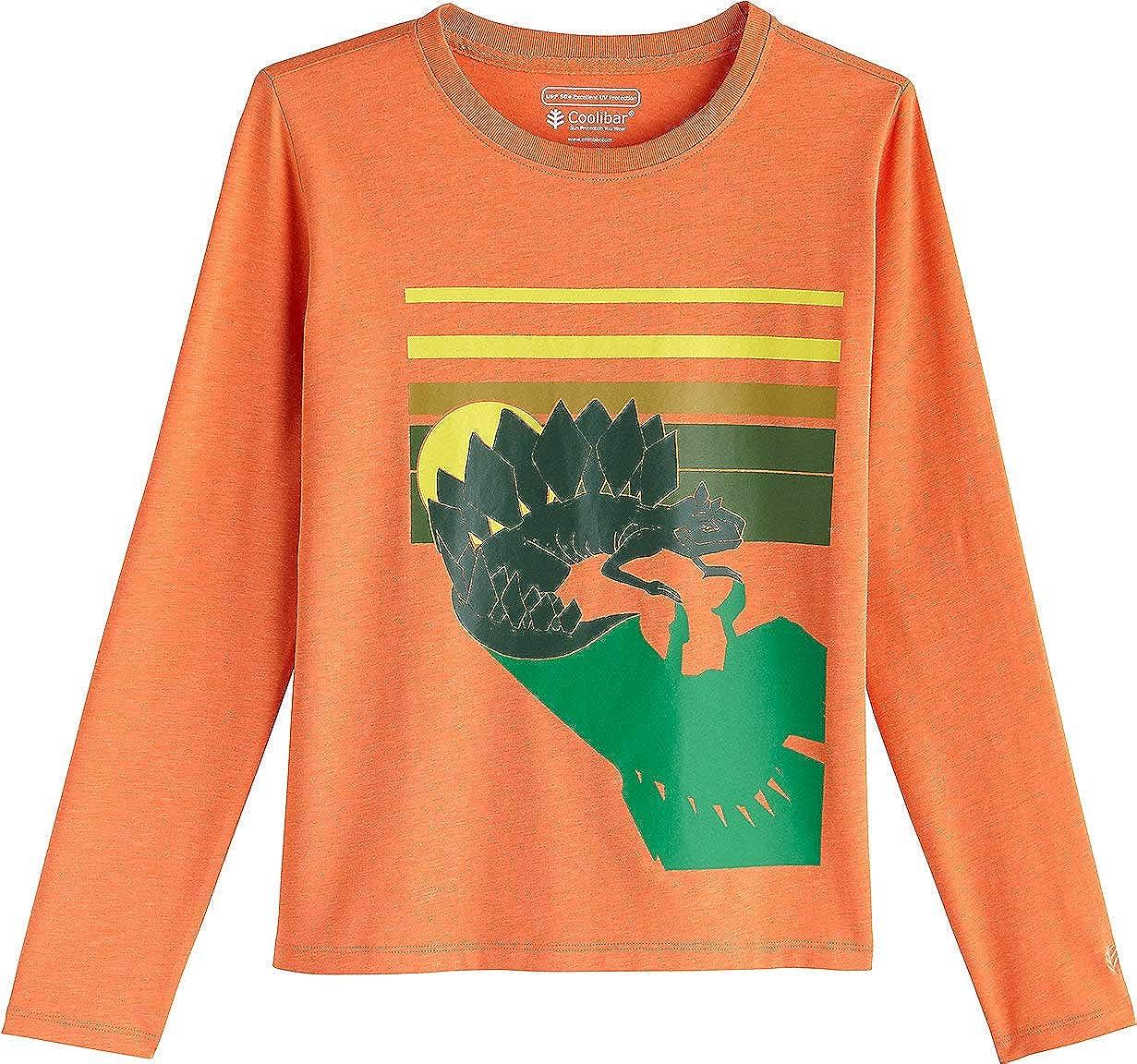 Kids Coco Plum Everyday Graphic Long Sleeve T-Shirt Coolibar UPF 50 Sun Protective
