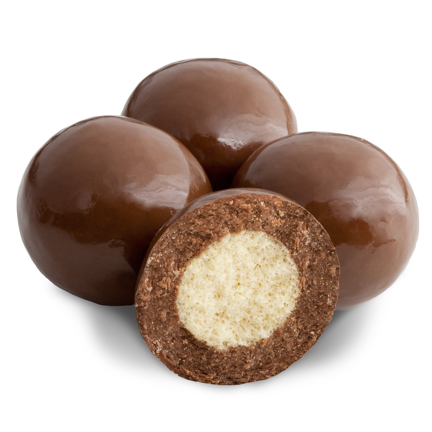 Premium Milk Chocolate Covered Candies (Triple Dipped Malted Milk Balls) Two Packages