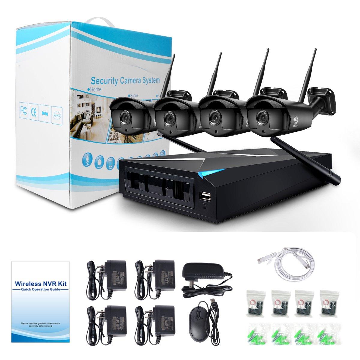 Amazon.com: Security System, JOOAN TC-734NVR-4N-AW-1T 1.3MP 4 x 960P ...