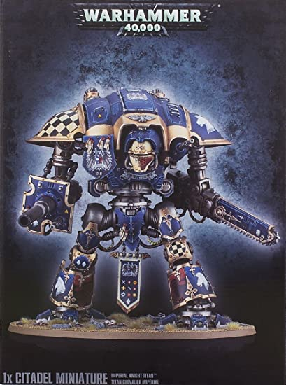 amazon com games workshop warhammer 40k imperial knight titan toys