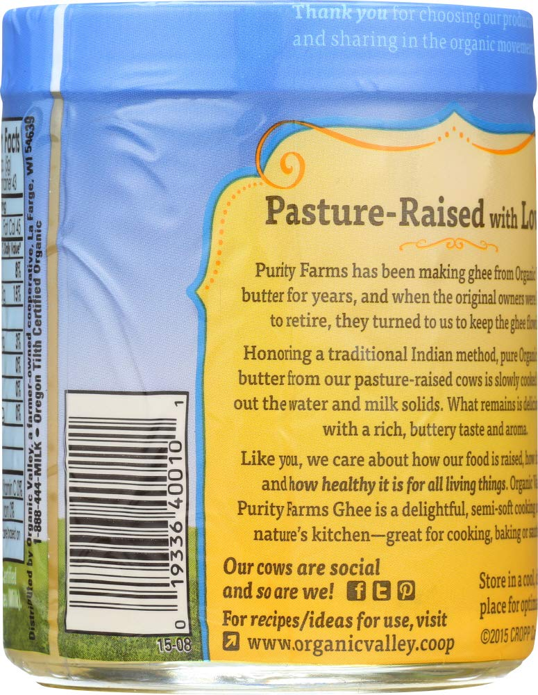 Purity Farms (NOT A CASE) Ghee Clarified Butter by Purity Farms (Image #4)