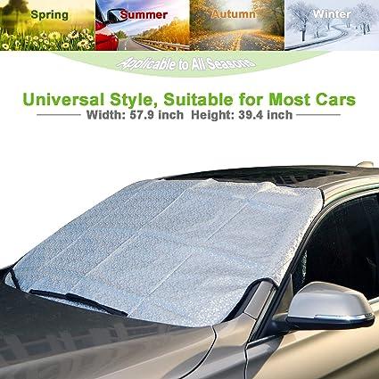 Amazon Com Ameiq Car Windshield Window Sun Shade Snow Cover All