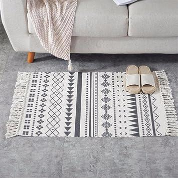 QIER-DT Alfombra de hogar Moderna alfombras Hechas a Mano, alfombras Tejidas a Mano