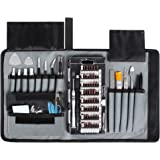 Syntus 80 in 1 Precision Screwdriver Set with Magnetic Screwdriver Kit, Essential Electronics Repair Tool Kit With Portable Pouch for iPhone, iPad, MacBook, Gaming Console, Controller,Black