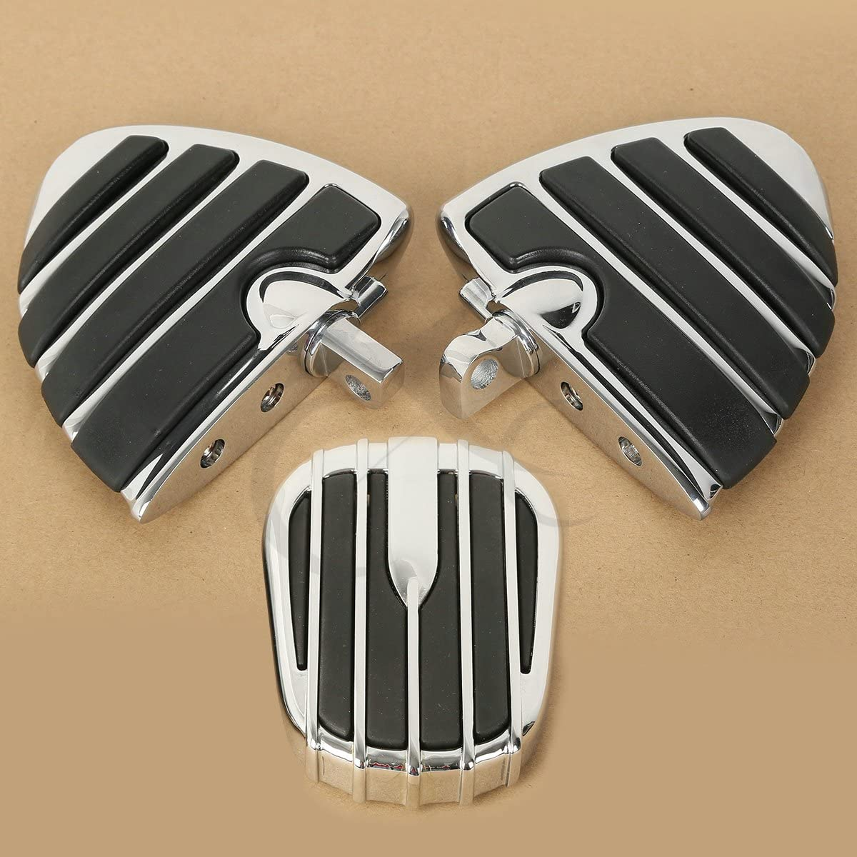 TengChang Motorrad Bremspedal Abdeckung Pad FootPeg Fu/ßst/ützen f/ür Harley Softail Ultra Limited Touring