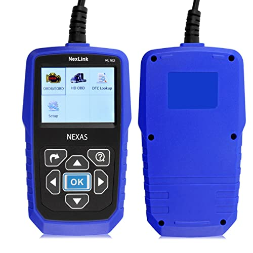 NEXAS NL102 heavy-duty truck scan tool is easy to use and works perfectly for experience DIYers or enthusiasts.