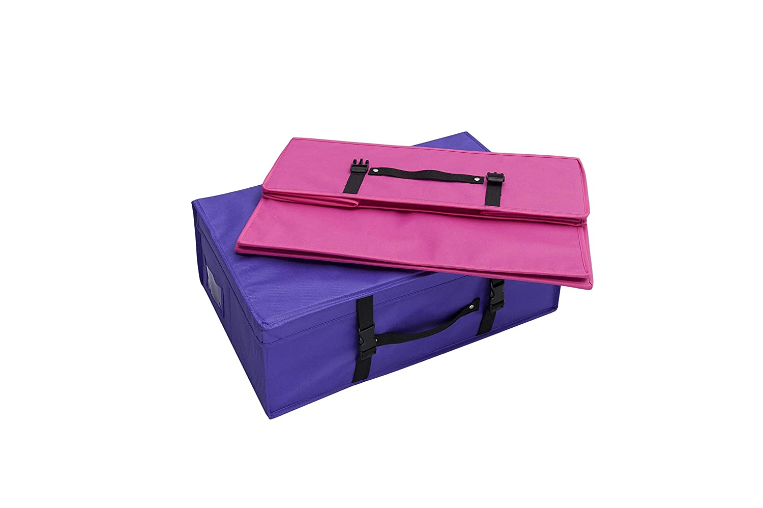 (Pink) - Wedding Dress Bridal Storage and Travel Box - Foldable, pH neutral, water resistant (Pink) B06XP4YXN6 ピンク