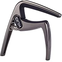KLIQ K-PO Guitar Capo for 6 String Acoustic and Electric Guitars - Trigger Style for a Quick Change Black Chrome