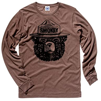 Amazon.com: Hank Player Official Smokey Bear' Men's Long Sleeve T ...