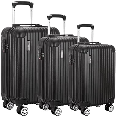 Luggage Set 3 Piece ABS Trolley Suitcase