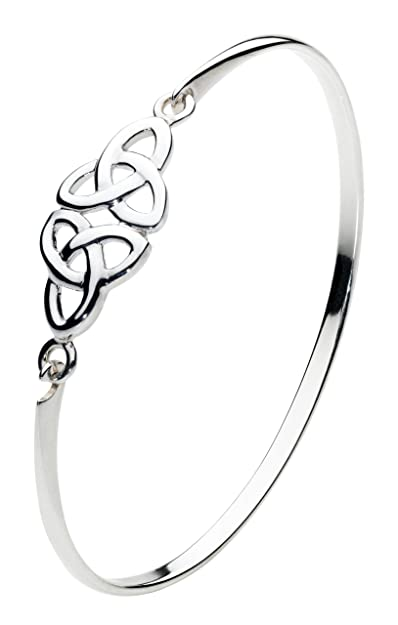 Heritage Women's Sterling Silver Celtic Double Trinity Knot Bangle vYwO7sGf