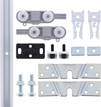 ToniTec – ® TT – Herraje para puerta corredera de cristal hasta 40 ...