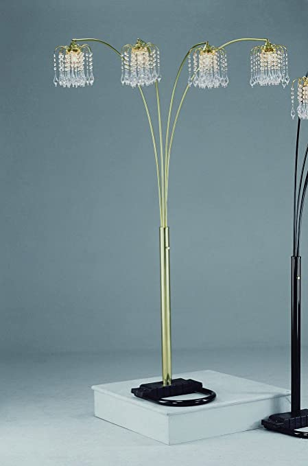 Gold Rain Drop Arc Floor Lamp 91\'\'H by Crown Mark - Floor Lamps ...