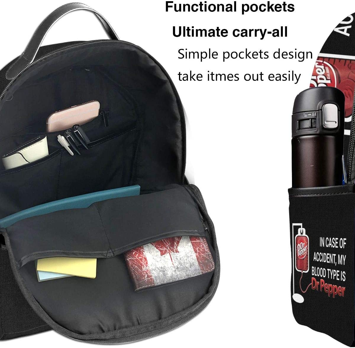 in Case of Accident Laptop Backpack Fashion Theme School Backpack