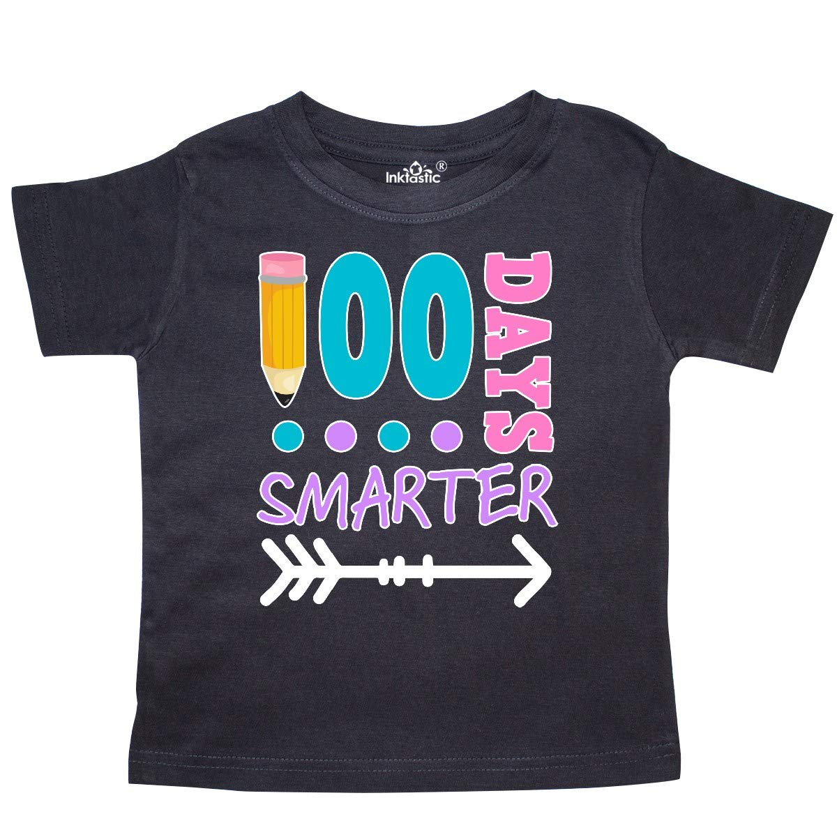 inktastic 100 Days Smarter with Arrow Toddler T-Shirt