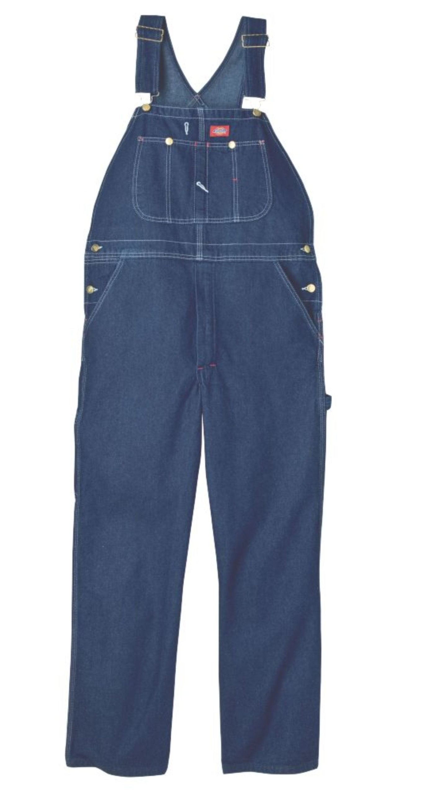 Dickies Men's Denim Bib Overall, Stone Washed Indigo Blue, 36 x 30