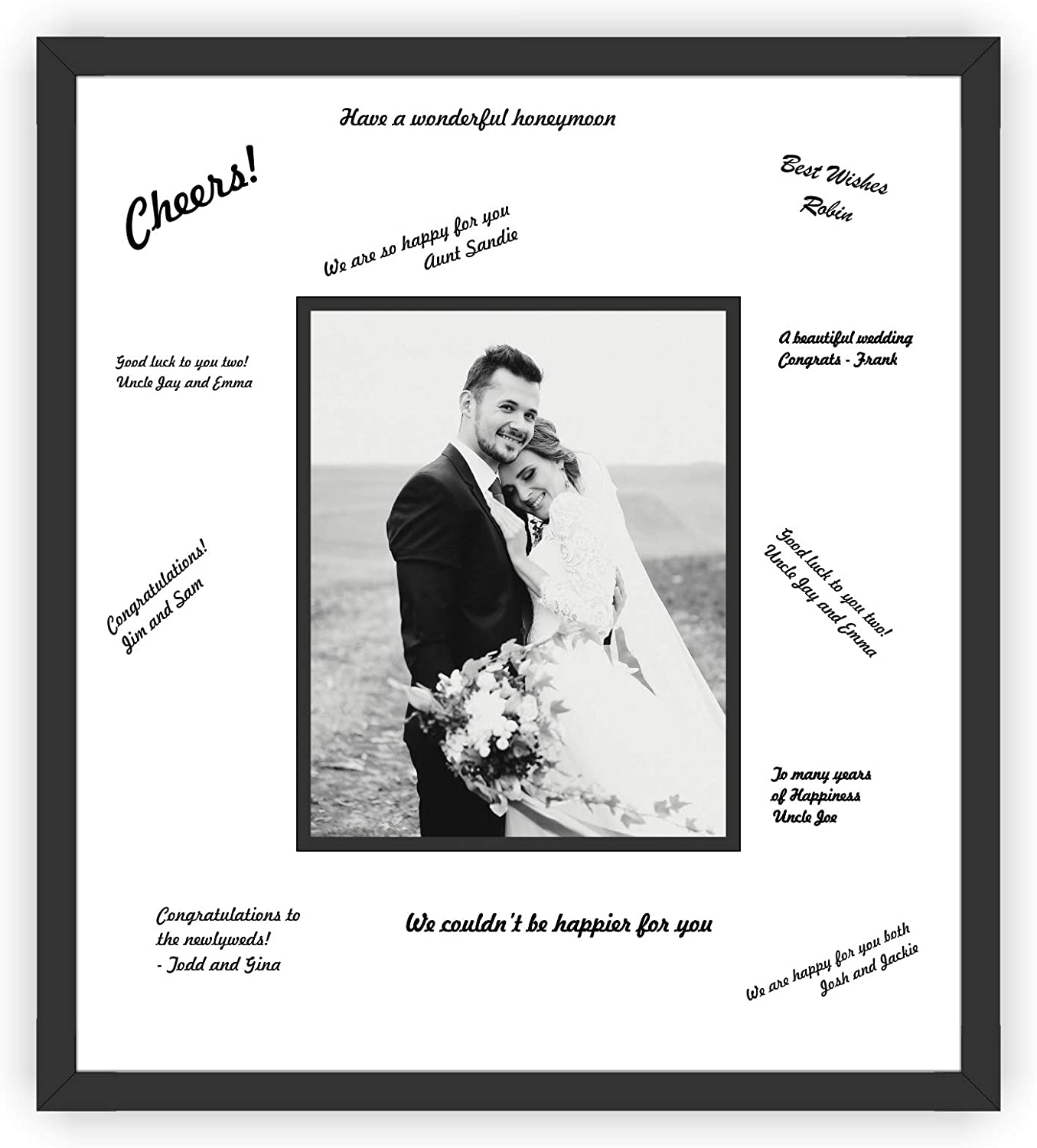 Amazon Com Perfect Cases And Frames Wedding Signature Frame With Black Moulding For 5x7 Photo